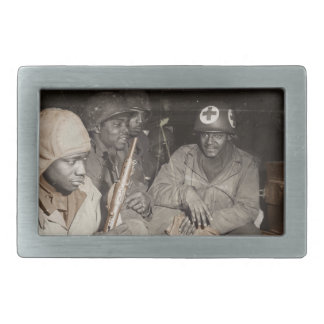 WWII Medics Waiting Rectangular Belt Buckle