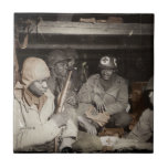 WWII Medics Waiting Small Square Tile