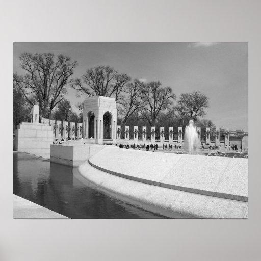 WWII Memorial b&w Poster