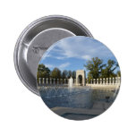 WWII Memorial Fountain. Atlantic Side 2 Inch Round Button