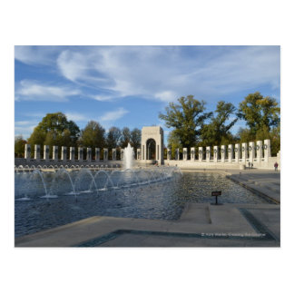 WWII Memorial Fountain. Atlantic Side Postcard