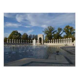 WWII Memorial Fountain. Atlantic Side Poster