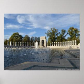 WWII Memorial Fountain. Atlantic Side Print