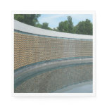 WWII Memorial Freedom Wall in Washington DC Paper Napkin