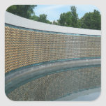 WWII Memorial Freedom Wall in Washington DC Square Sticker