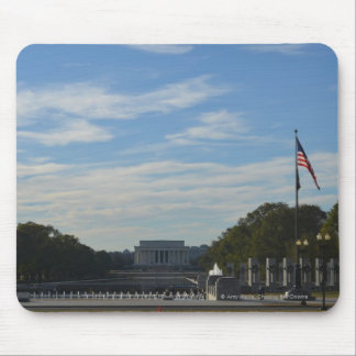 WWII Memorial with Lincoln Memorial Mouse Pad
