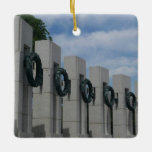 WWII Memorial Wreaths I in Washington DC Ceramic Ornament