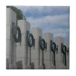 WWII Memorial Wreaths I in Washington DC Ceramic Tile