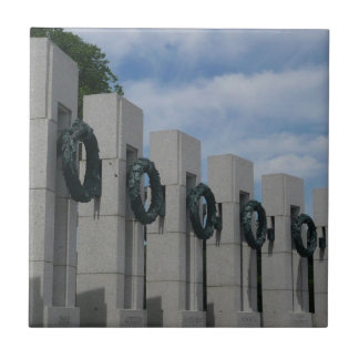 WWII Memorial Wreaths I in Washington DC Ceramic Tile