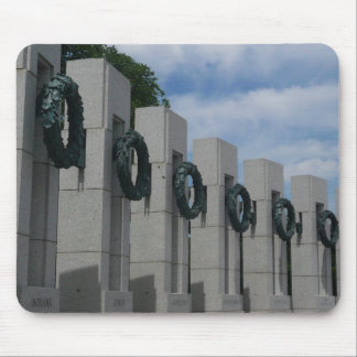 WWII Memorial Wreaths I in Washington DC Mouse Pad