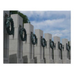 WWII Memorial Wreaths I in Washington DC Photo Print