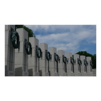 WWII Memorial Wreaths I in Washington DC Poster