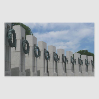 WWII Memorial Wreaths I in Washington DC Rectangular Sticker