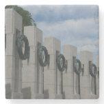 WWII Memorial Wreaths I in Washington DC Stone Coaster