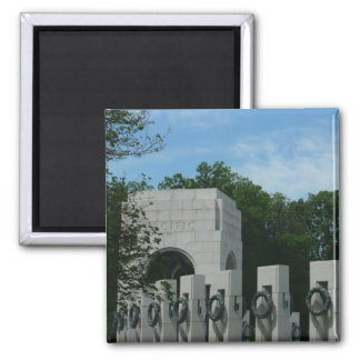 WWII Memorial Wreaths II in Washington DC 2 Inch Square Magnet