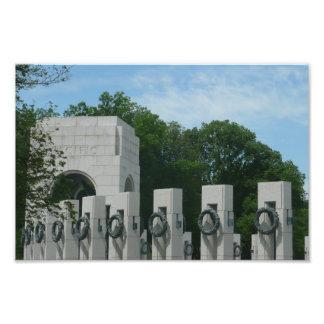 WWII Memorial Wreaths II in Washington DC Photo Print