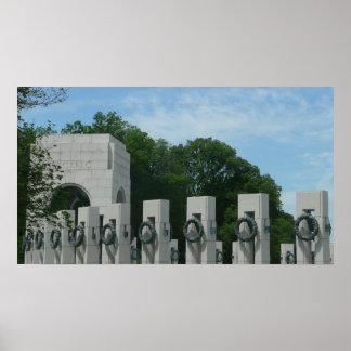 WWII Memorial Wreaths II in Washington DC Poster