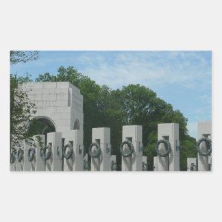 WWII Memorial Wreaths II in Washington DC Rectangular Sticker