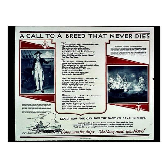 Wwii Navy Recruit2 Postcard