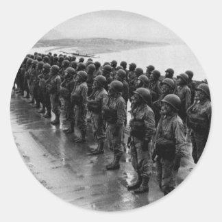 WWII Nurses in Gas Masks Classic Round Sticker