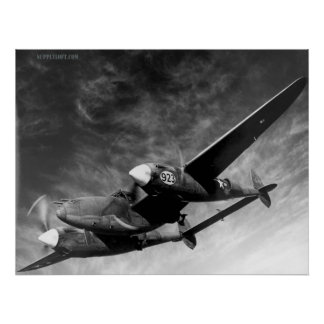 WWII P38 Lightning Poster