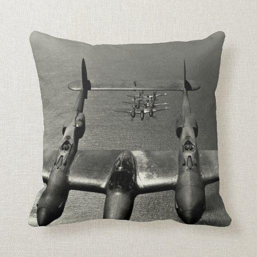 WWII P-38 Lightnings Pillow