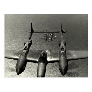WWII P-38 Lightnings Postcard