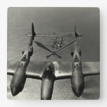 WWII P-38 Lightnings Wall Clock
