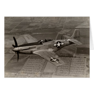 WWII P-51 Mustang in Flight Card