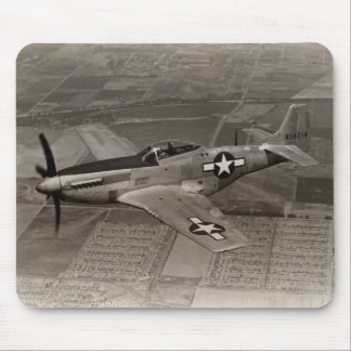 WWII P-51 Mustang in Flight Mouse Pad