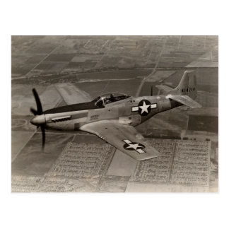 WWII P-51 Mustang in Flight Postcard