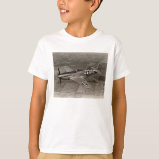 WWII P-51 Mustang in Flight T-Shirt