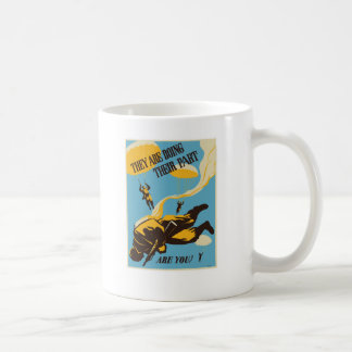 WWII Paratrooper Classic White Coffee Mug