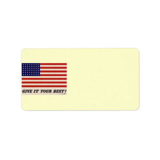 WWII Patriotic Poster Address Label