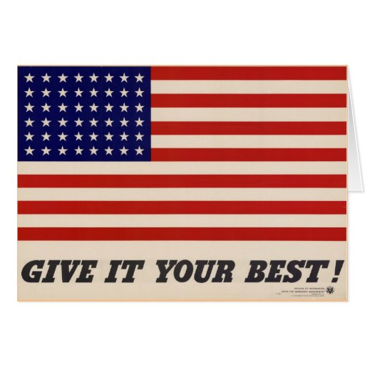 WWII Patriotic Poster Greeting/Note Card