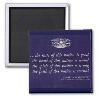 WWII Patriotic Poster Magnet