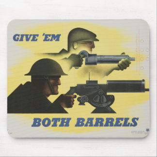 WWII Patriotic Poster Mouse Pad