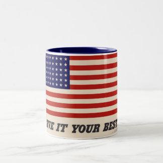 WWII Patriotic Poster Mug
