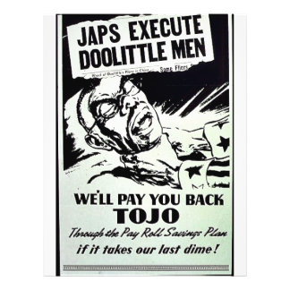 Wwii Pay Back Personalized Flyer