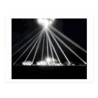 WWII Pearl Harbor Searchlights Postcard
