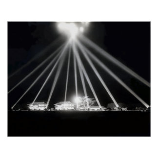 WWII Pearl Harbor Searchlights Poster