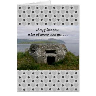 WWII Pillbox Valentine Greeting Card
