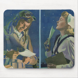 WWII pilot and nurse long distance romance Mouse Pad