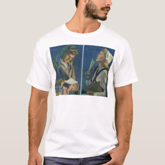 WWII pilot and nurse long distance romance T-Shirt