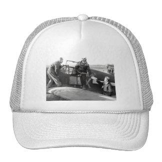 WWII Pilot + Crew of a P-51A Mustang Trucker Hat