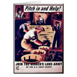 Wwii Pitch In Card