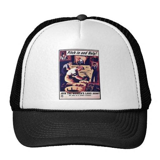 Wwii Pitch In Trucker Hats