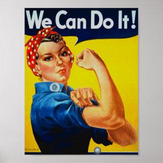 WWII podemos hacerlo Rosie el poster del