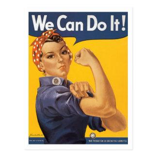 "¡WWII ""podemos hacerlo! "" Tarjetas Postales"