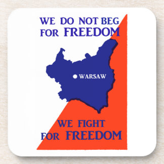 WWII Poland Fights for Freedom Beverage Coaster